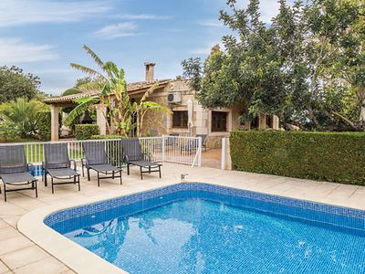 Photo for Family-friendly villa w/ gated pool + paddling pool, short distance to bay