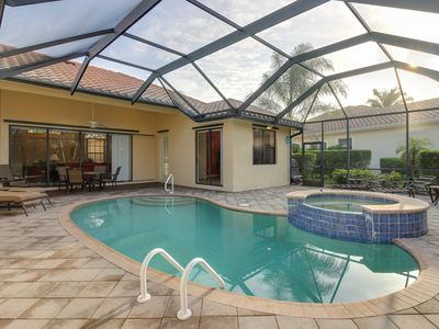 Photo for Inviting home with private pool and pool spa, grill, patio, and tennis access