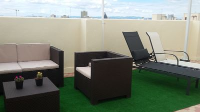 Photo for Penthouse with terrace 40m2 with wide views 10mn walking from center