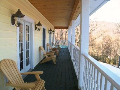 2nd Floor Porch - Enjoy Morning Coffee and Fantastic Views