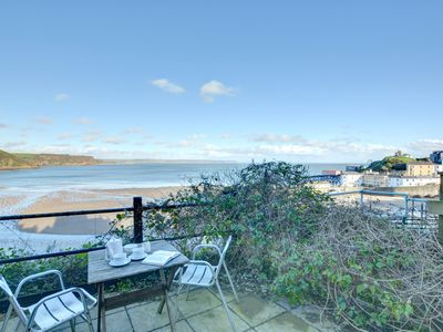 Photo for Basement apartment but in an elavated position overlooking the harbour and beach in Tenby.  - Size: