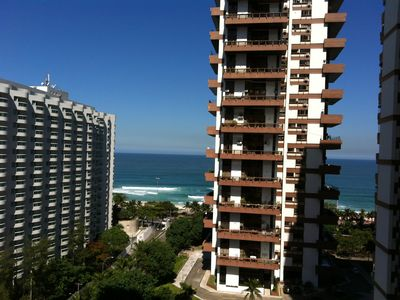 Photo for Barra da Tijuca Barramares fully equipped Flat and renovated beachfront