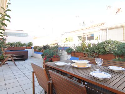 Photo for Duplex penthouse in the center of Sitges. With 2 terraces, A / C, Wi-Fi, for 6 people