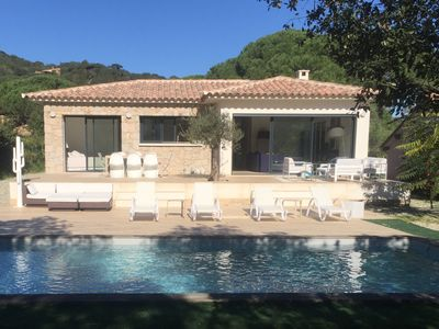 Photo for Character villa with heated swimming pool Palombaggia road