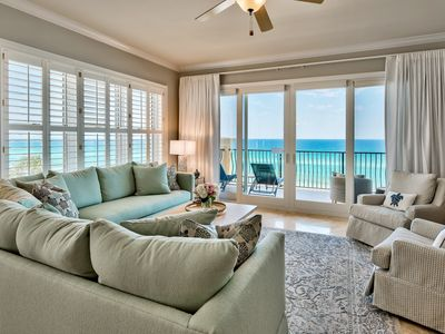 Photo for Adagio A401 on 30A gulf front,top floor, beaches,pools, fall filling up fast!