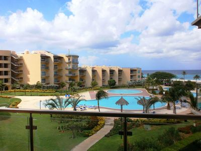 Photo for BEACHFRONT - EAGLE BEACH - OCEANIA RESORT - Bella Vista  2BR condo - BC356