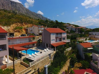 Photo for One bedroom apartment with balcony and sea view Lokva Rogoznica, Omiš (A-18328-a)