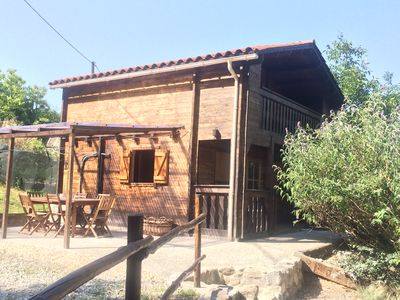 Photo for Wooden chalet in a verdant environment at the foot of the Mount Canigou