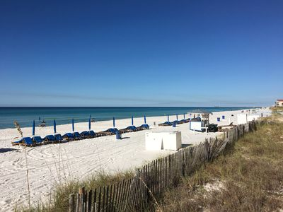 650 feet of beautiful sugar white beaches of Gulf of Mexico at your doorstep.