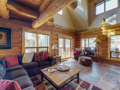 Photo for Mountainview cabin w/ private hot tub, game room, & fireplace