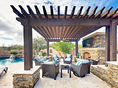 Backyard - Spread out in more than 3,000 square feet of upscale living space at this stunning 5BR/3BA home.