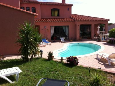Photo for Rents air-conditioned villa with private pool wifi.