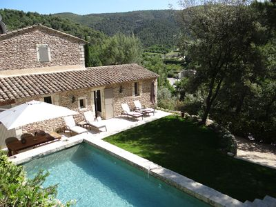Photo for Life is beautiful, Luberon view, pool 8 * 4m, wifi, near village-shops