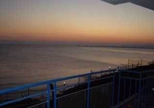 Watch the sunset from one of the large balconies