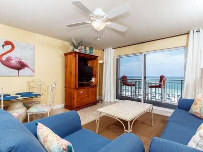 PI 406 is a GEM of a 1BR w Bistro patio furniture & TVs in BUNKS - Get a great view of the beach right from your living room! Relax in style in this lovely 1BR/2BA beachfront condo on Okaloosa Island.
