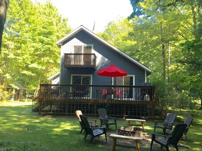 Photo for The Luckystone! Cabin style cottage - short walk to Lake Michigan beach access.
