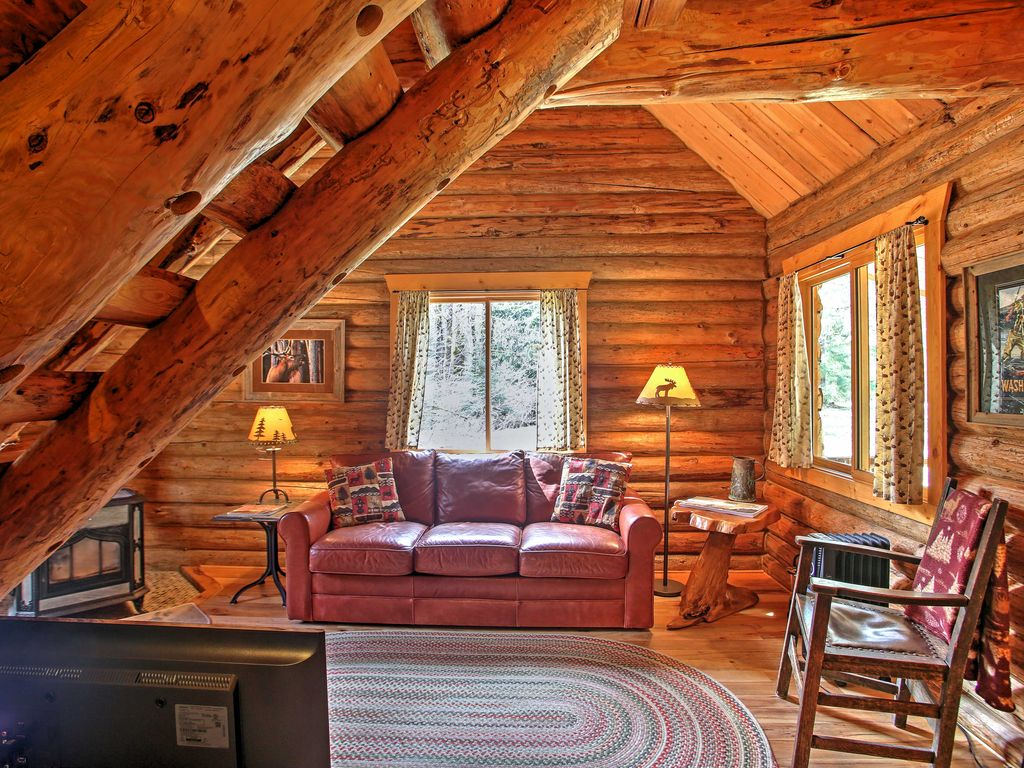 Log Cabin Cozy 1br Packwood Cabin W Mtn Views