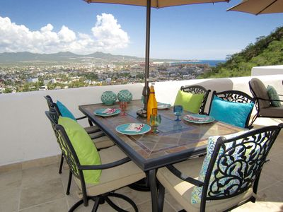 Photo for Breathtaking Cabo Views From The Top Floor Private Balcony & Living Areas