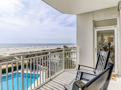 Photo for Completely remodeled oceanfront condo w/ balcony & shared pools, hot tubs & gym!
