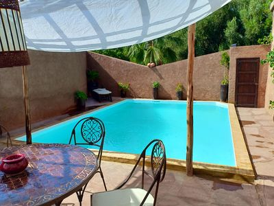 Traditional house of charm any comfort with swimming pool without person opposite.