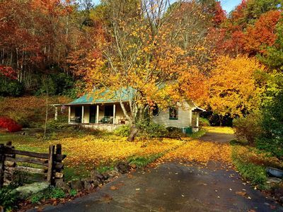 Photo for Luxury Cabin In The Woods - Operated By Beechwood Inn Bed And Breakfast Inn