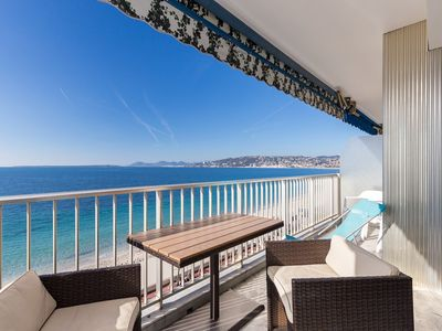 Photo for RIVES D'OR - Spacious Studio with large terrace  and panoramic seaview
