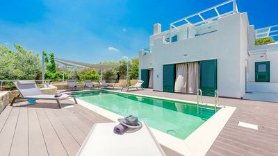 Photo for Sophisticated & Modern with Private Pool in the Picturesque Village of Gerani, 500 m to the Beach!