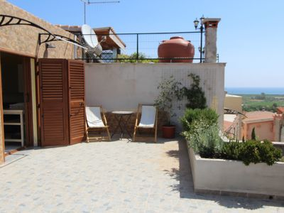 Photo for Posada apartment with panoramic terrace overlooking the sea