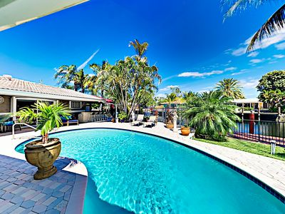 Photo for New Listing! Opulent Waterfront Getaway w/ Private Pool, Outdoor Bar & Dock