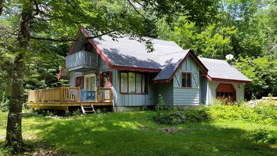 Photo for Cozy, Secluded Chalet just a short walk to Carrabassett River! Sleeps 10!