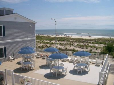 Large Sundeck Right on Boardwalk/Beach with Great Views of Ocean