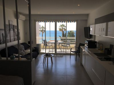 Photo for JUAN LES PINS Large New Studio 2018 Seafront 4 People