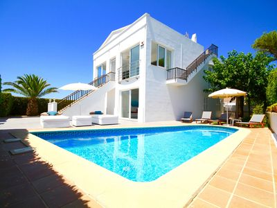 Photo for Modern Villa with sea views 300m from the beach with private pool, AC, WiFi