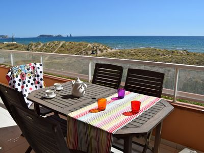 Photo for First Line Apartament in Playa de Pals. 6 people.Parquing.