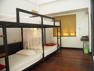 Photo for Cozy Private Quadruple room - 2 bunk beds2
