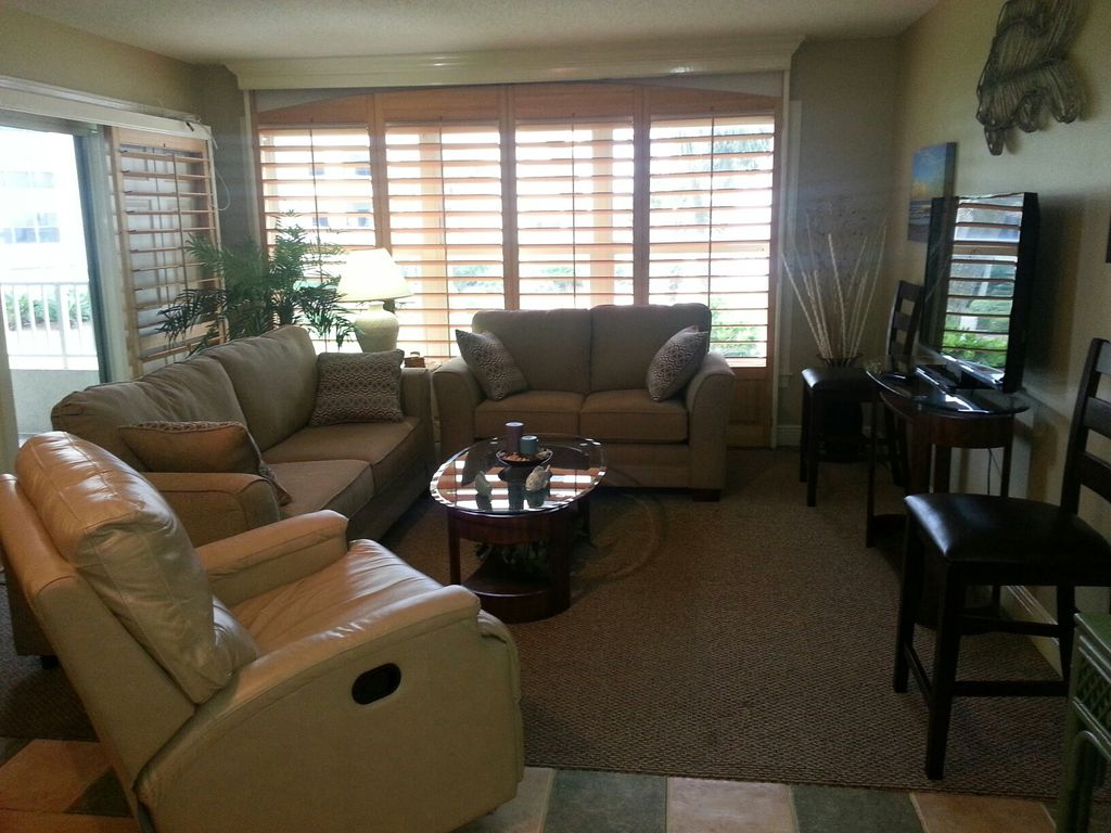 In november we added plantation shutters and i furnished with a sofa - 4 Plantation Shutters Provider Gorgeous Ocean View