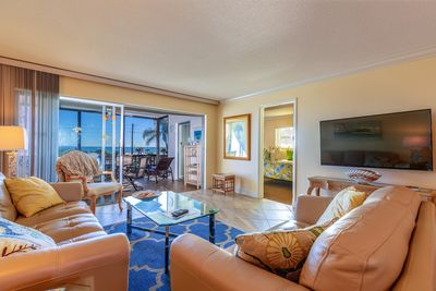 living room view of beach