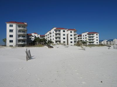 Palm Beach Condos from the Beach! A51 is Top Condo on Right & Totally Gulf Front