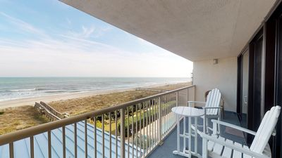 Photo for Oceanfront, Indoor/Outdoor pools, Elevators. Beautiful Kitchen! FREE WIFI Great Location!   Great...