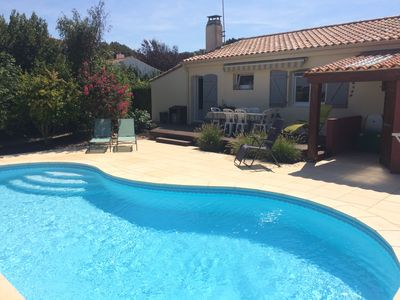 Photo for Very nice seaside house with pool and views of the marshes.