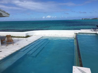 Infinity edge pool right on the beach