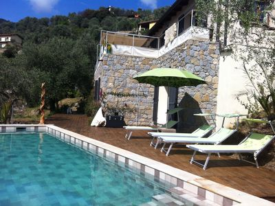 Photo for A big country home , 'eco-chic',  8-10 persons mit view on Dolceacqua and Sea