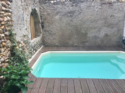 Photo for Charming village house with small pool between St Guilhem and Salagou