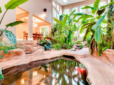 Photo for Luxurious home w/ mtn views & hot tub - theater, fitness room, & a koi pond, too