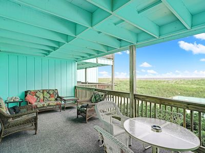 Photo for Oceanfront & Pool Renovated with Large Deck & Netflix - Sleeps 7 - Linens  Incl.