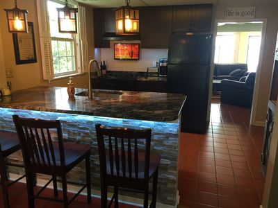 Kitchen and breakfast bar. Old bay in your bloody mary?