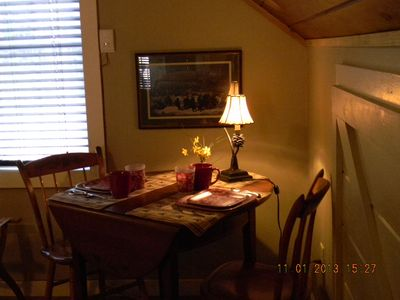dining area for two!