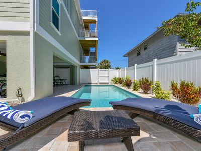 Photo for 200 Ft. to the Beach! Rooftop Views, Outdoor Party Area and Pool! Sun and Fun!