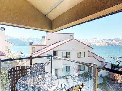 Photo for Spacious, lakefront condo w/ lake views, shared pool, hot tub, & more!