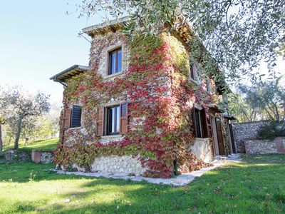 Photo for Beautiful villa overlooking the Sabine countryside, built on Roman ruins.